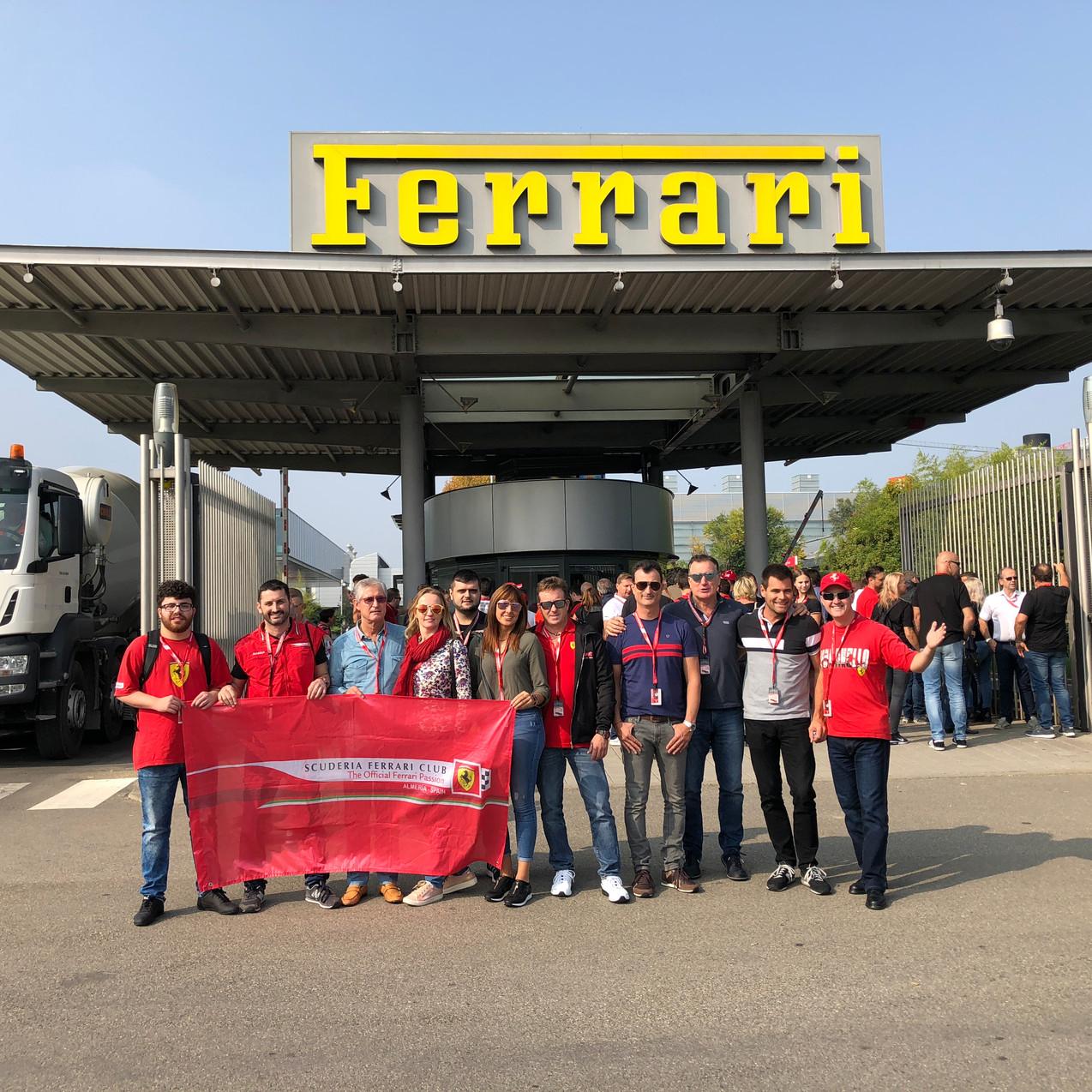 Entrada trasera Ferrari