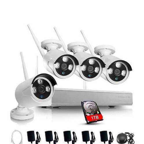 Wireless Wi-Fi 960P Security Camera Kit
