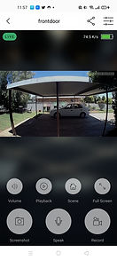 03. Day time image from the video doorbell app, which includes all the control options available on the app itself. Photo - Video - Replay - Audio - Microphone etc....