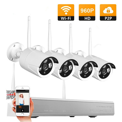 4 x 960P HD security camera kit.