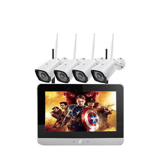 """4 x 960P 1.3MP Wi-Fi cameras, NVR & 12"""" LCD screen"""