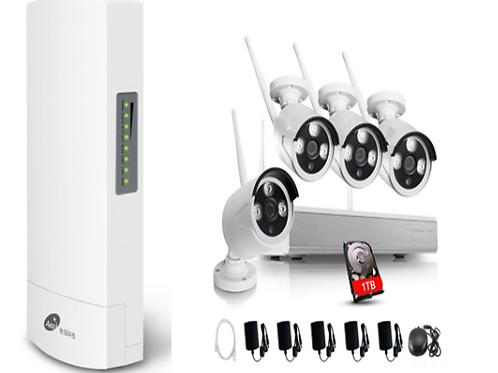 4 x 960P HD Wi-Fi cameras, Star Light Technology - feature + 1TB Harddrive NVR