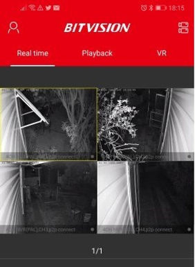 07. Night time images from Security camera system using the mobile app.
