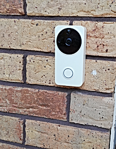 video doorbell fitted to front entrance