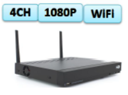 4 channel Wi-Fi Network Video Recorder  (note: harddrive not included)