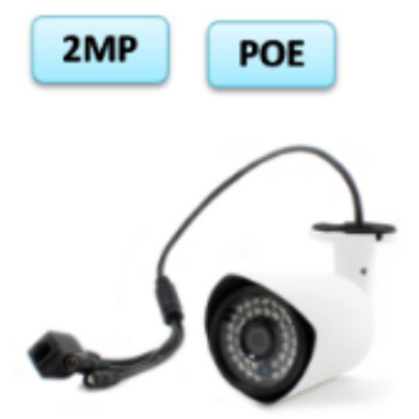 2MP PoE bullet type outdoor camera