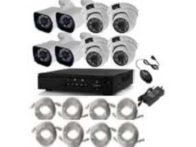 8 X 960P PoE indoor / outdoor camera kit