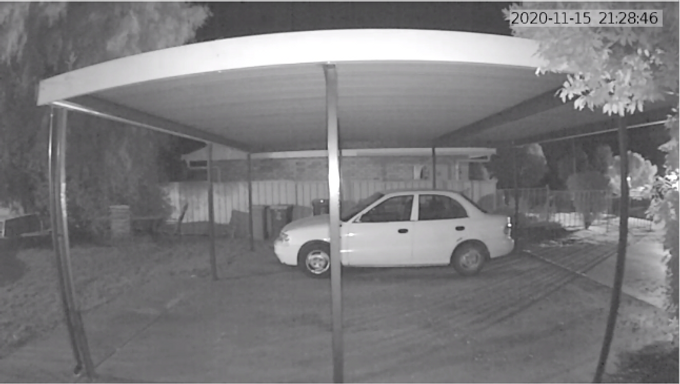 06. Night time view from a Video doorbell, image only.
