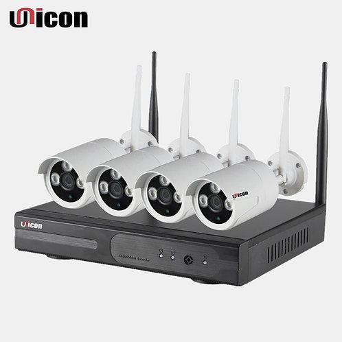 Professional Unicon 4 x 960P Wi-fi cameras & 4 ch NVR
