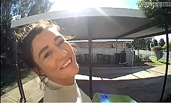 02. Image from Video Doorbell, talking to someone using the 2 way Audio feature (02)