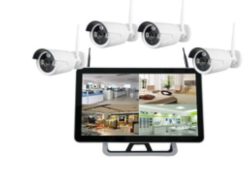 "4 x 1080P Wi-Fi cameras + 22"" Display screen (Hard Drive not included)"