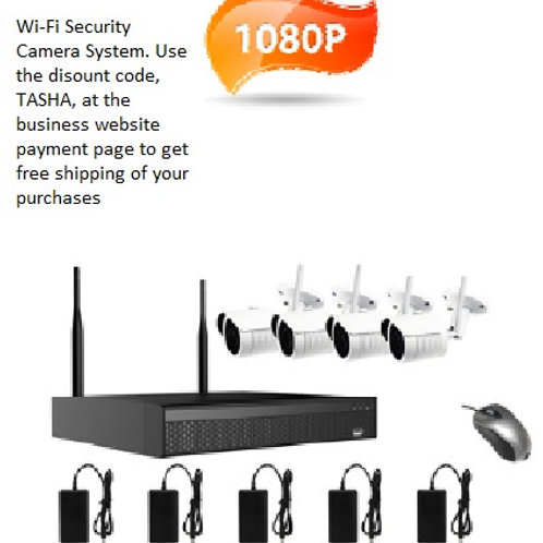 Wireless 4 camera Wi-Fi Kit  (1TB harddrive included)