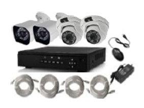4 X 960P Camera indoor / outdoor camera kit
