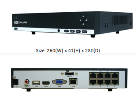 NVR 6308 - 8 channel Video Recorder