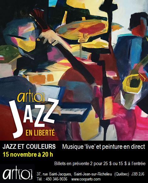 Dernière soirée Jazz et couleurs de la saison chez ART[O]