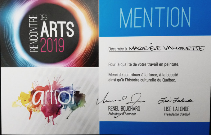 Mention du jury à Rencontre des arts 2019