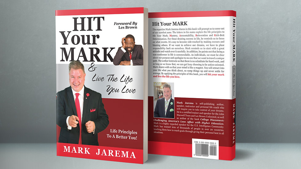 Autographed Copy of HIT YOUR MARK & Live The Life You Love (USPS Mail)