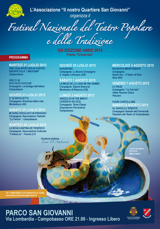 La tradizione torna in scena con il XIX Festival del Teatro Popolare! - Tradition is back on the sta