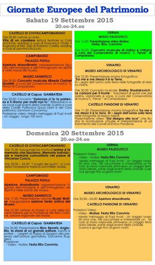 Giornate Europee del Patrimonio 2015 - European Heritage Days 2015