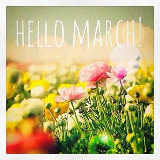 Benvenuto Marzo! - Hello March!