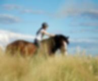 Jilikins on Her Horse Amber