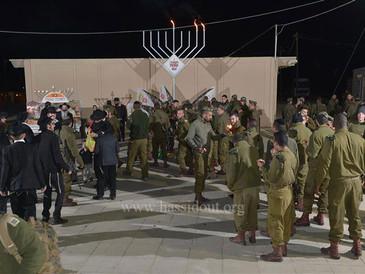 """""""Opération Hanouccah"""" dans les bases militaires de la Judée par 100% Lahayal et le Beth Ha"""