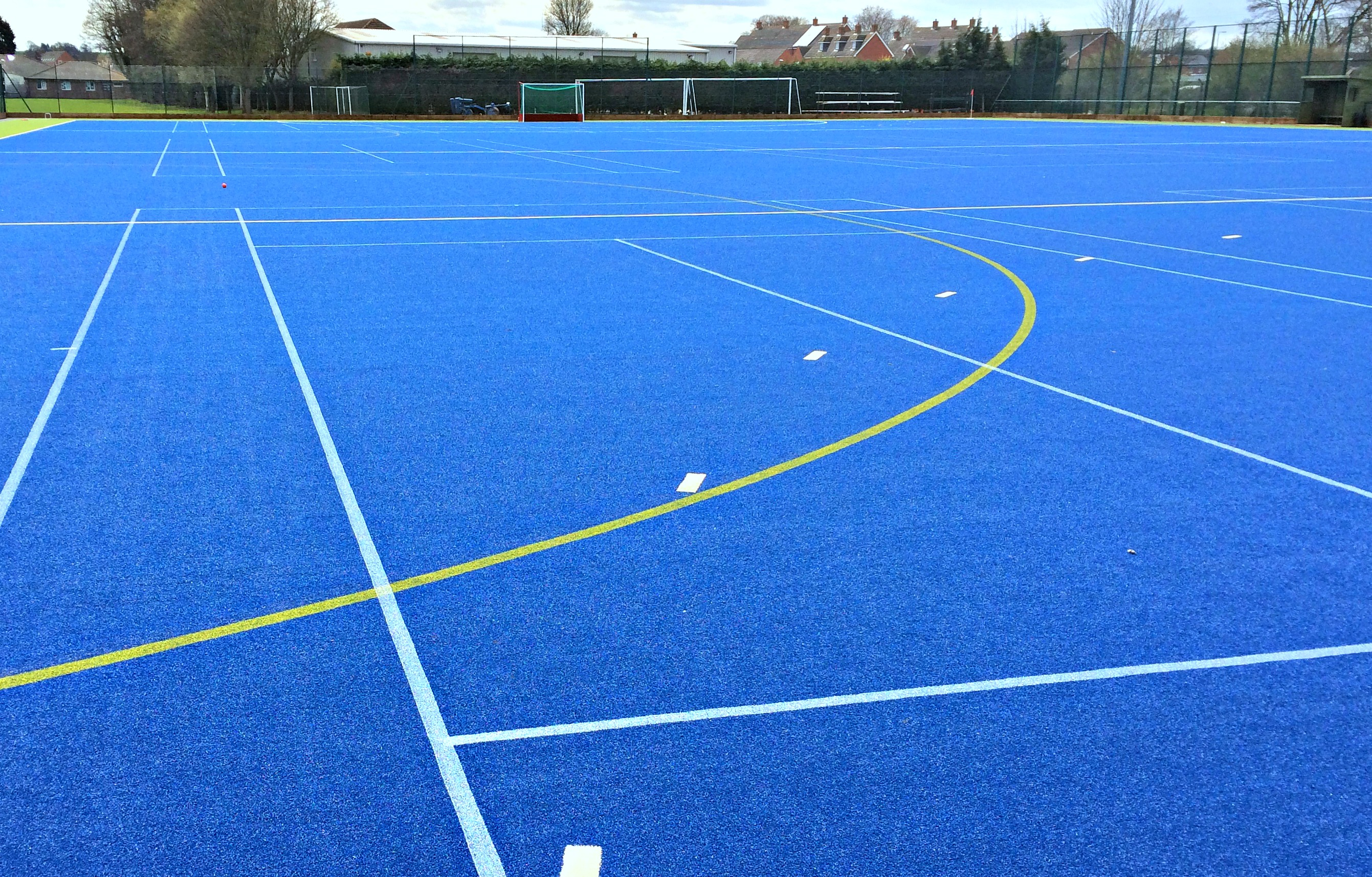 Line Marking on  Synthetic Sports Tu