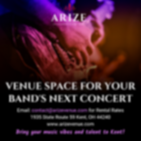 RENT OUT VENUE SPACE FOR YOUR BAND'S NEX