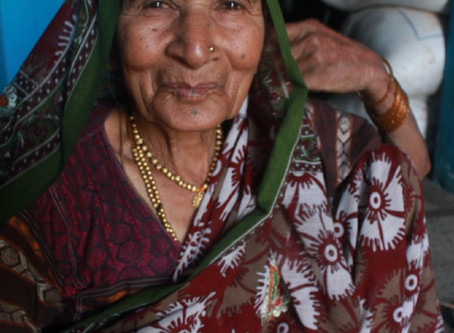 Aaji's organic small scale farm—Training on her farm to construct DIY Greenhouse