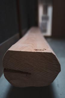Hand carved Hinoki bench