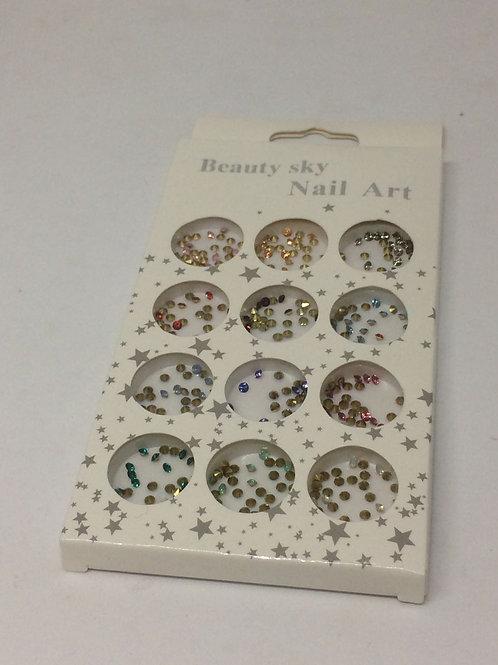 Caja decoración strass cónicos