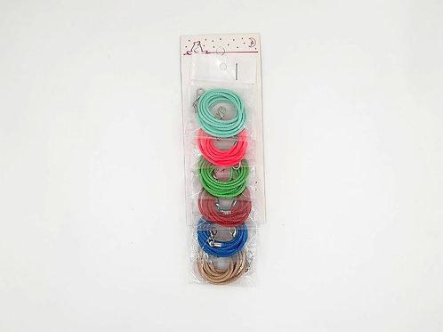 Portabarbijos mostacilla colores x6