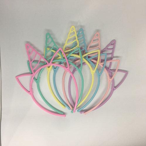Vinchas unicornio pastel x6
