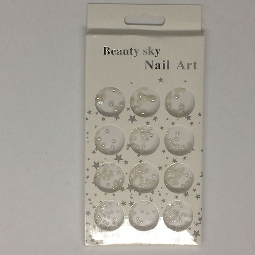 Caja decoración media perlas