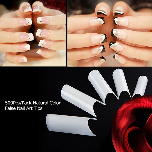 "Tips x100 Curvatura ""C"" Color: Blanco"