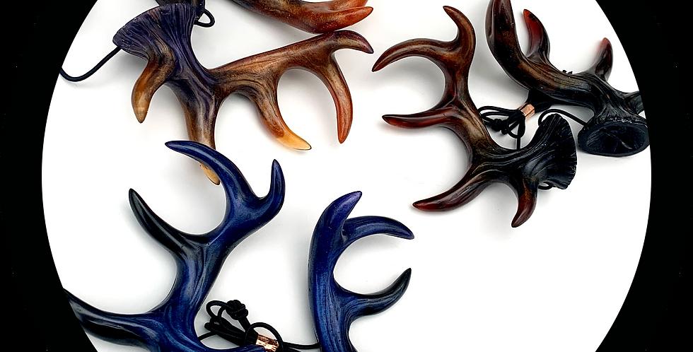 Handcrafted Resin Ethereal Antler Horns