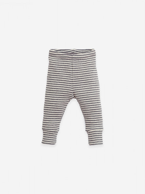 PLAY UP - Legging ligné/Striped organic cotton leggings | Botany