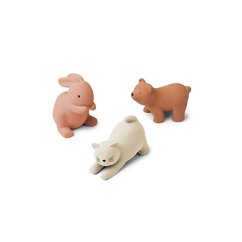 LIEWOOD - Petits jouets animaux en silicone, Rose multi mix