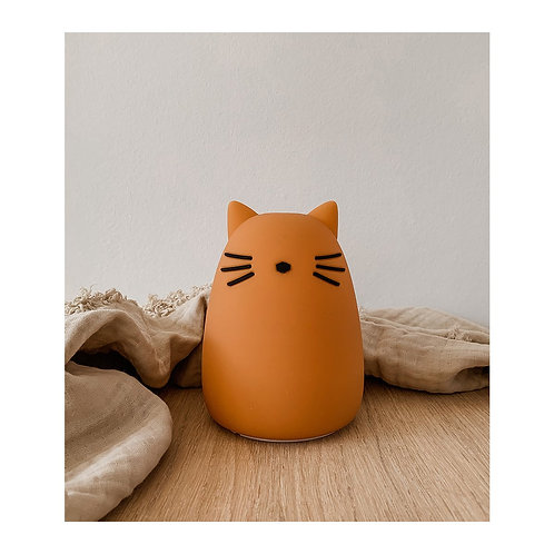 LIEWOOD - Veilleuse chat moutarde Winston night light