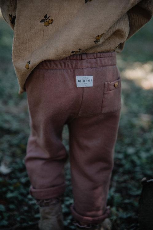 STUDIO BOHEME - Pantalon brique