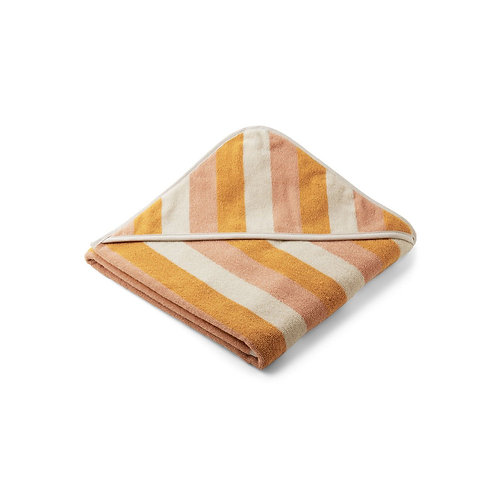 LIEWOOD - Louie hooded towel cape de bain yellow