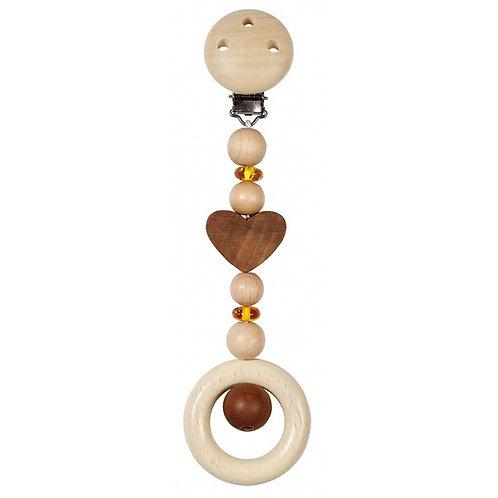 Heimess - Clip de jeu en bois pour la poussette ou le maxi-cosi