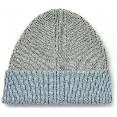 LIEWOOD - Ezra - Bonnet bicolore bleu ciel