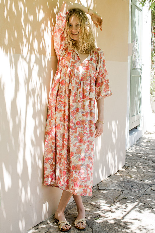 Louise Misha - Robe Gera pink flowers