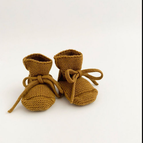 HVID BOOTIES CHAUSSONS MUSTARD