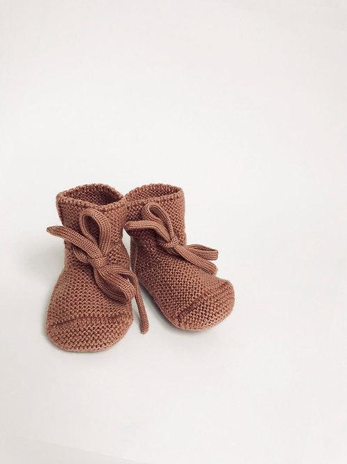 Liste Wacquier - Delneste - Chaussons en laine de mérinos - Brick