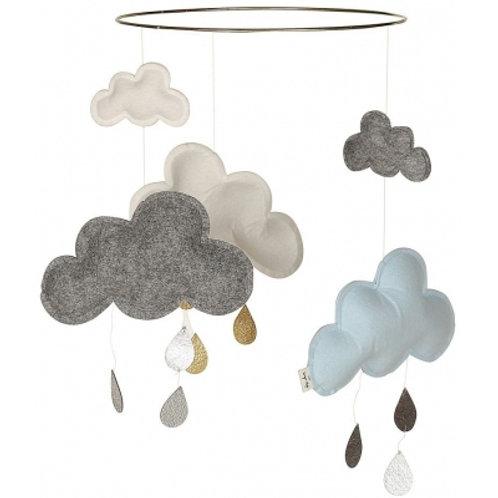 KONGES SLOJD - Mobile nuage blanc/gris/ bleu