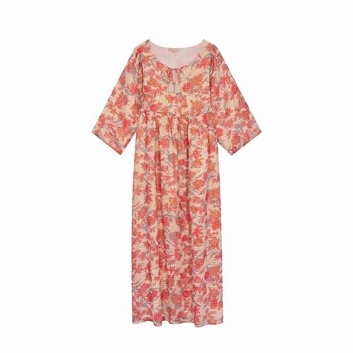 LOUISE MISHA - Gera, robe pink flowers