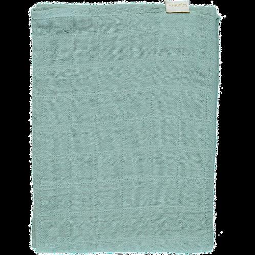 POUDRE ORGANIC - Petit lange uni blue surf