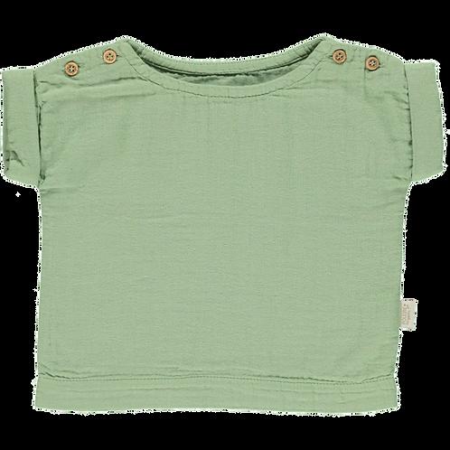 POUDRE ORGANIC - Lin, blouse green jade